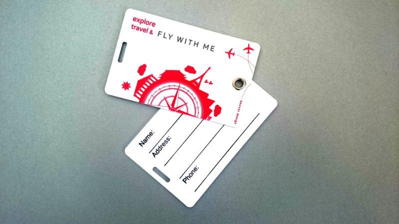 targhette identificazione bagaglio
