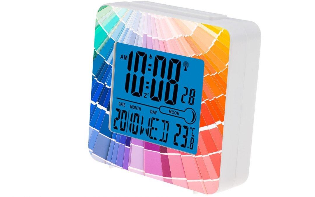 Orologi con sveglia personalizzabili full color, anche in piccoli quantitativi
